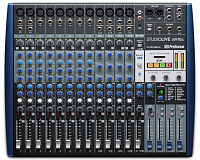 PreSonus StudioLive AR16c аналоговый микшер USB, 18 каналов, 8 микр. + 4 микр. моно/лин. стерео + 1 стерео лин./Bluetooth, 18x4 USB-C, 3 AUX, FX, SD-рекордер, монтаж в рэк