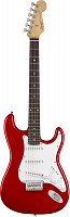 FENDER SQUIER MM STRATOCASTER HARD TAIL RED электрогитара, цвет красный