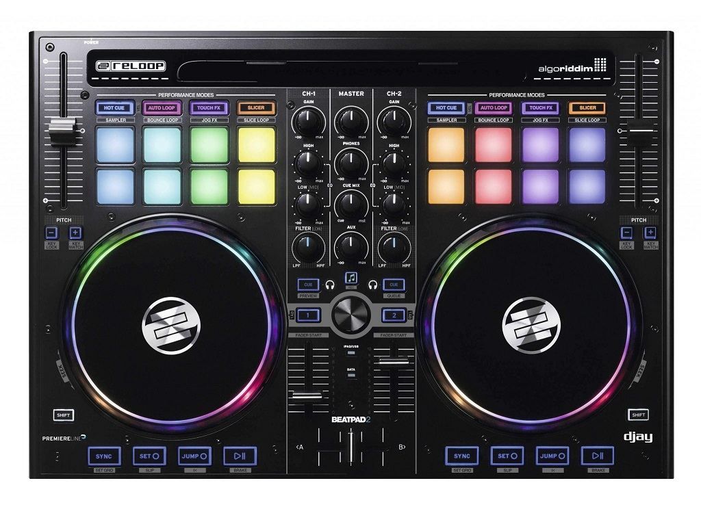 Reloop Beatpad 2 Профессиональный DJ контроллер для IPAD, Mac / PC и платформы Android