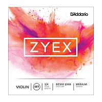 D'ADDARIO DZ310 3/4M Zyex, medium Струны для скрипки