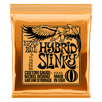 Ernie Ball 2222 струны для электрогитары Nickel Wound Hybrid Slinky, 9-11-16-26-36-46