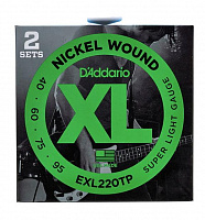 D'Addario EXL220TP 2 комплекта струн БАС -Super Long/Soft Long 40-95