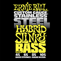 Ernie Ball 2843 струны для бас-гитары Stainless Steel Bass Hybrid Slinky (45-65-85-105)