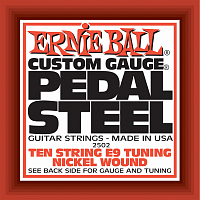 Ernie Ball 2502 струны для электрогитары, набор из 10-ти штук, Nickel Wound 10-String E9 Pedal Guitar E9th