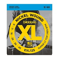 D'ADDARIO EXL125 струны для электрогитары, Super Light/Regular, никель, 9-46