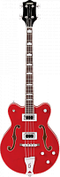 Gretsch G5442BDC Electromatic Hollow Body 30.3' Short Scale Bass, RW F-board, Transparent Red Бас-гитара полуакустичеcкая, цвет красный
