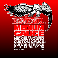 Ernie Ball 2204 струны для электрогитары Nickel Wound Medium, 13-17-26-34-46-56