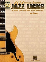 HLE00695433 - 101 MUST KNOW JAZZ LICKS TAB BOOK/CD