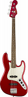 Fender Squier Contemporary Jazz Bass®, Laurel Fingerboard, Dark Metallic Red бас-гитара, цвет красный металлик