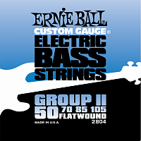 Ernie Ball 2804 струны для бас-гитары Flat Wound Bass Group II (50-70-85-105)