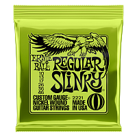Ernie Ball 2221 струны для электрогитары Nickel Wound Regular Slinky, 10-13-17-26-36-46