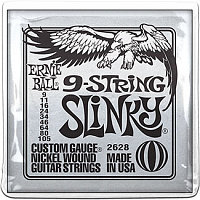 Ernie Ball 2628 струны для электрогитары 9-STRING SLINKY NICKEL WOUND