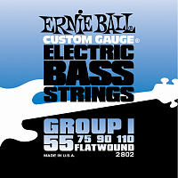Ernie Ball 2802 струны для бас-гитары Flat Wound Bass Group I (55-75-90-110)
