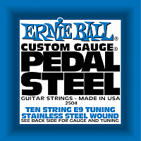 Ernie Ball 2504 струны для электрогитары,  набор из 10-ти штук, Stainless Steel 10-String E9 Pedal Guitar