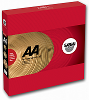 "SABIAN AA PERFOMANCE SET 25005-NB, Regular Hats, 16"" Medium Crash, 20"" Medium Ride, STYLE VINTAGE, METAL B20, SOUND BRIGHT"