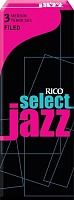 RICO RSF05TSX3M Select Jazz трости для тенор-саксофона, Select Jazz Filed (3M), 5 штук в пачке