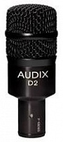 Audix D2 Инструментальный микрофон, динамич. гиперкардиоид. 44Гц-18кГц, 1,2mV/Pa, SPL144dB