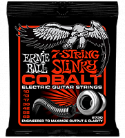 Ernie Ball 2730 струны для 7-струнной электрогитары Cobalt Skinny Top Heavy Bottom 7 (10-13-17-30-42-52-62)