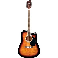 Jay Turser JTA-454QCET-TSB электроакустическая гитара Dreadnought, Tobacco Sunburst