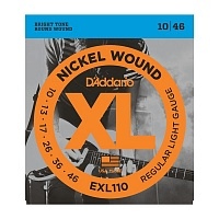 D'ADDARIO EXL110 струны для электрогитары, Regular Light, никель, 10-46