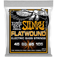 Ernie Ball 2813 струны для бас-гитары Hybrid Slinky Flatwound Bass (45-65-85-105)