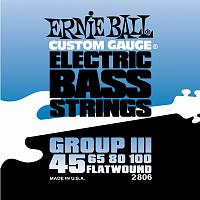 Ernie Ball 2806 струны для бас-гитары Flat Wound Bass Group III (45-65-80-100)