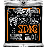 Ernie Ball 3115 струны для электрогитары Titanium RPS Skinny Top Heavy Bottom Slinky (10-13-17-30-42-52)