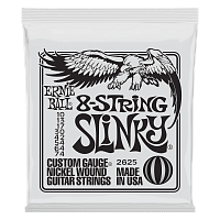 Ernie Ball 2625 струны для 8-струнной электрогитары Nickel Wound Slinky 8, 10-13-17-30-42-54-64-74
