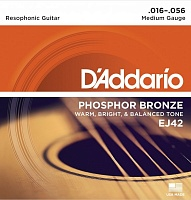 D'ADDARIO EJ42 стр. для акуст. гит., фосфор/бронза, Resophonic Guitar, 16-56