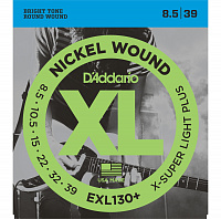 D'Addario EXL130+  струны для электрогитары, Extra Super Light+, никель, 8.5-39