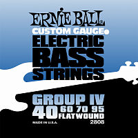 Ernie Ball 2808 струны для бас-гитары Flat Wound Bass Group IV (40-60-70-95)
